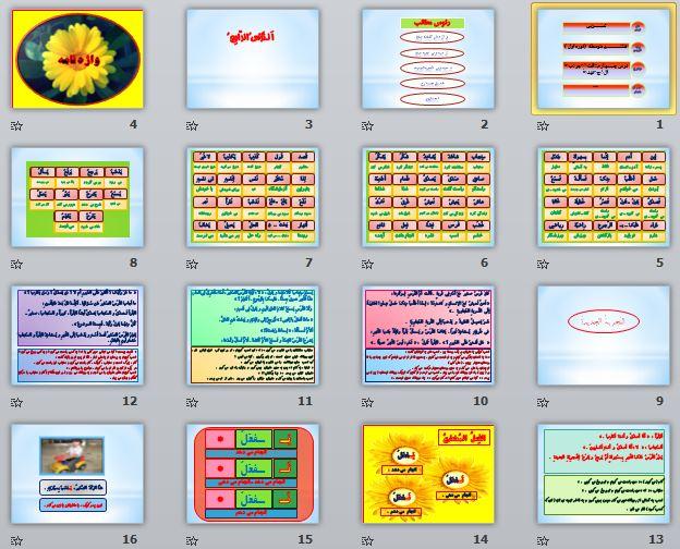 دانلود فایل های آماده ورد و پاورپوینت ضمن خدمت هوشمندسازی عربی هشتم التجربه الجدیده