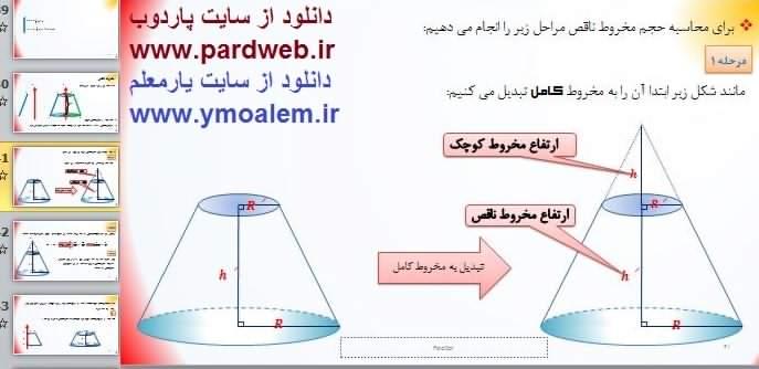 دانلود پاورپوینت ارائه درس ریاضی دوازدهم تجربی فصل ششم
