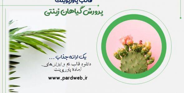 قالب پاورپوینت پرورش گیاهان زینتی