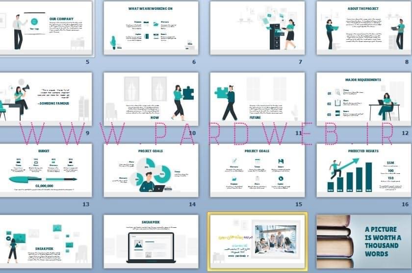 قالب پاورپوینت ارائه پروژه تیمی