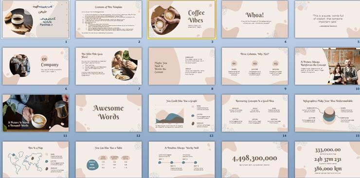 قالب پاورپوینت قهوه طبیعی