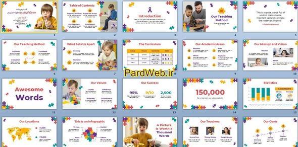 اسلایدهای ارائه مرکز آموزش ویژه طیف اوتیسم